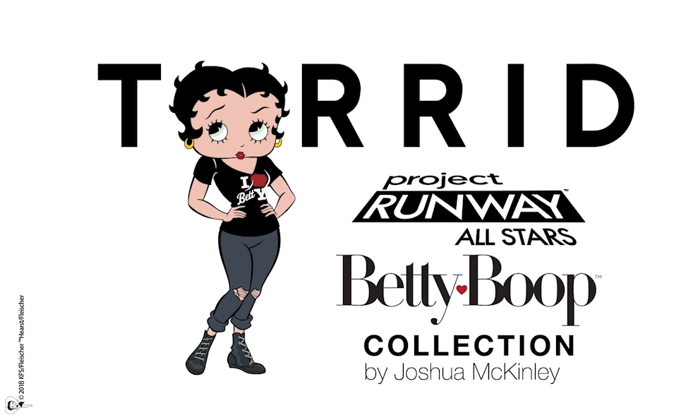 by her own iconic style and spirit with the winning look to serve as the inspiration for a new betty boop collection at plus size retailer torrid